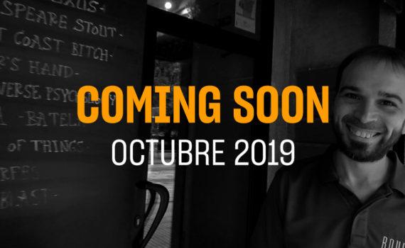 Portada del coming soon del mes de Octubre 2019